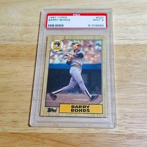 1987 Barry Bonds RC - Topps # 320 - PSA 9